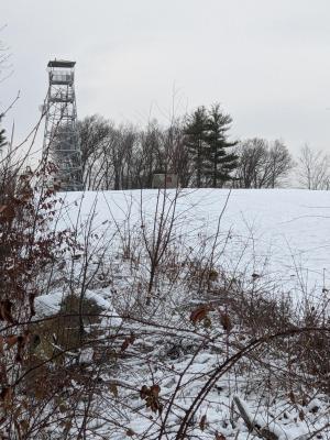 fire tower winter